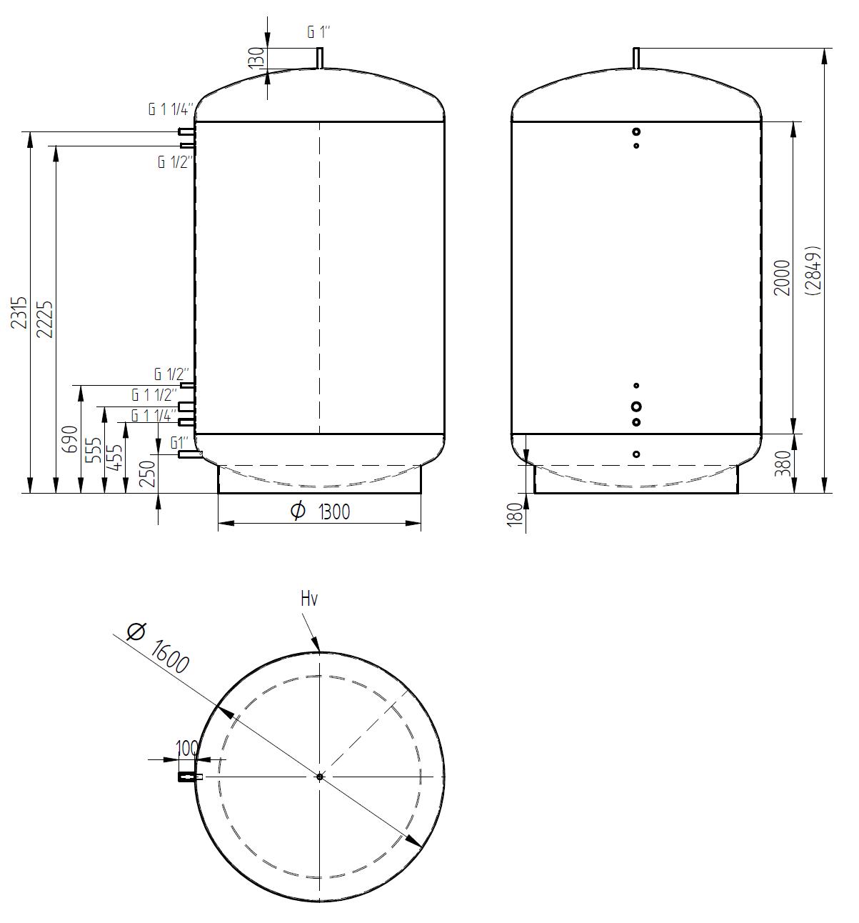Zbiornik buforowy 5000l bez wymiennika